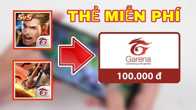 Chi tiết cách nhận thẻ Garena miễn phí