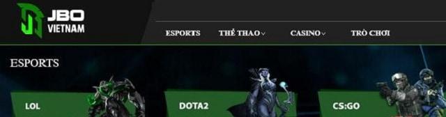 Chọn trò chơi CS:GO tại mục Esports