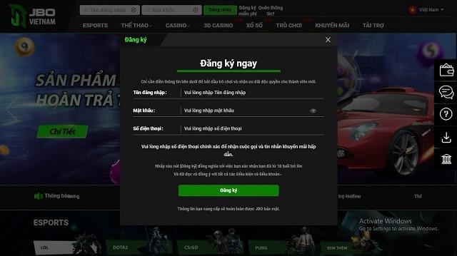 Để có thể vào được trang chủ của game bạn cần phải có tài khoản
