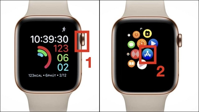 Truy cập App Store trên đồng hồ